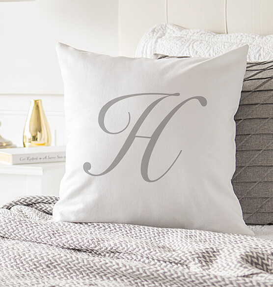 "Personalized Script Initial 16"" Throw Pillow - View 1"