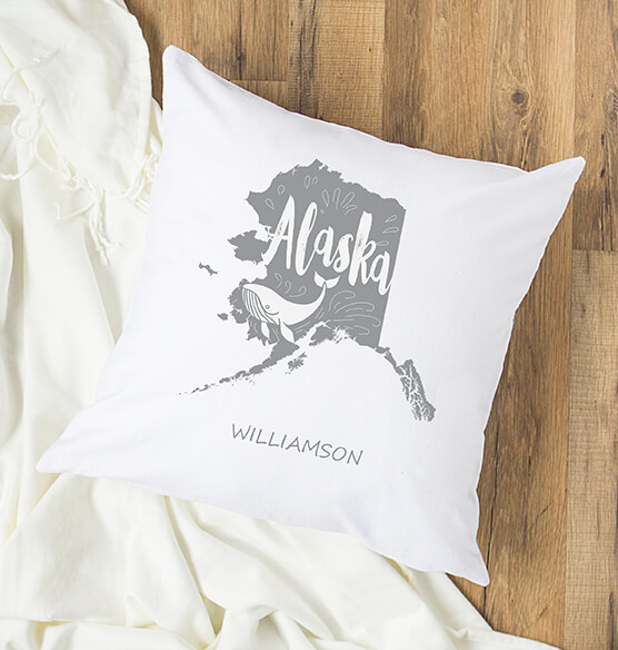 "Personalized My State 16"" Throw Pillow"