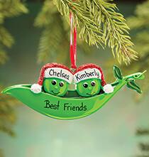 Personalized Peas in a Pod Ornament