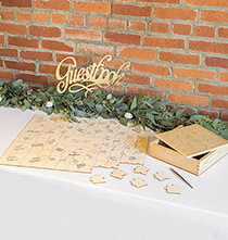 Wedding Essentials - Personalized Wedding Guestbook Puzzle