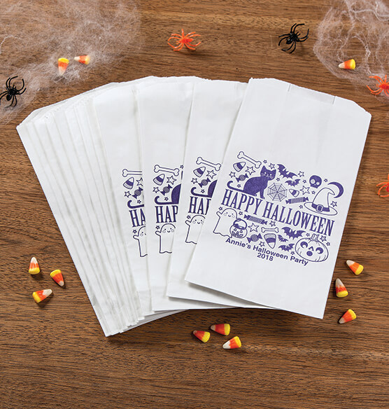 Personalized Halloween Icon Treat Bags, Set of 12