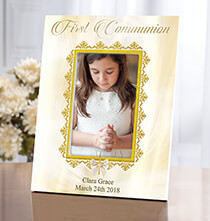 Personalized First Communion Frame   Add a Name or Initial for Free