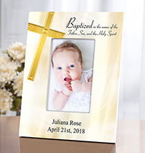 Personalized Baptism Frame   Add a Name or Initial for Free