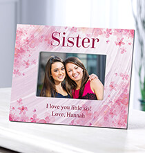 Personalized Flowers-a-Flutter Sister Frame