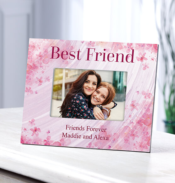 Personalized Flowers-a-Flutter Best Friend Frame