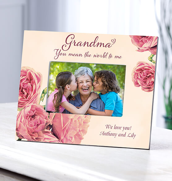 Personalized Grandma English Rose Frame