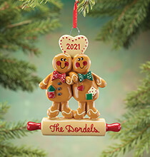 Wedding Essentials - Personalized Gingerbread Couple Ornament