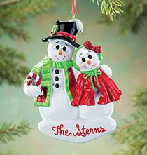 Personalized Snowcouple Ornament