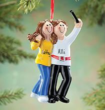 Personalized Selfie Friends Ornament