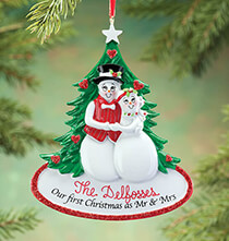 Wedding Essentials - Personalized Our First Christmas Ornament