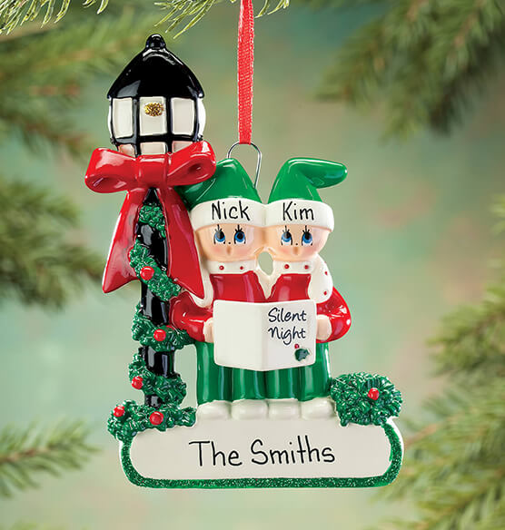 Personalized Caroler Family Ornament