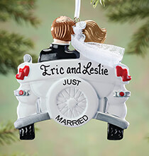 Occasion & Themed Ornaments - Personalized Just Married Car Ornament