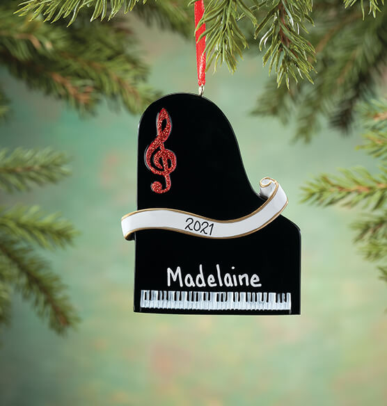 Personalized Piano Ornament - View 1
