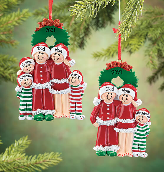 Personalized Christmas Eve Family Ornament - View 1
