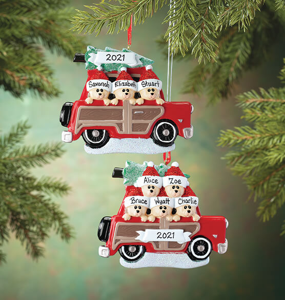 Personalized Woody Wagon Family Ornament - View 1