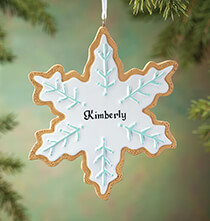 Personalized Snowflake Cookie Ornament   Personalized