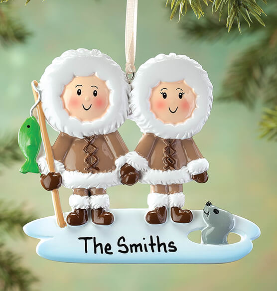 Personalized Eskimo Family Ornament - View 1
