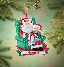 Personalized Santa and Child Ornament