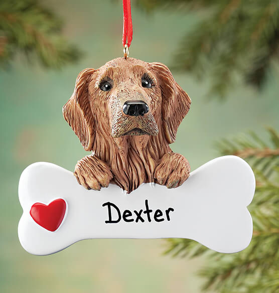 Personalized Golden Retriever Ornament - View 1