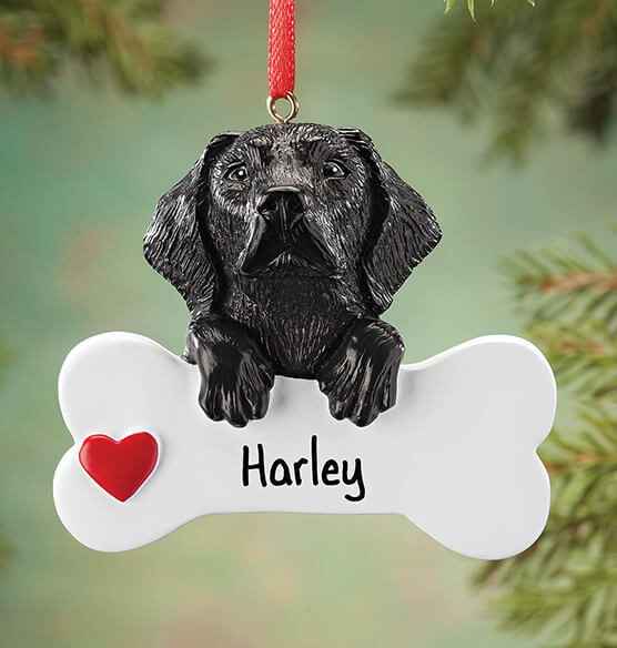 Personalized Black Lab Ornament - View 1