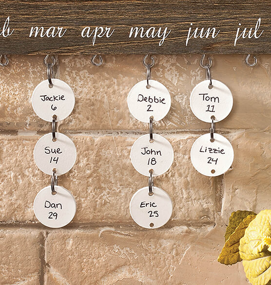 Dates to Remember Wall Hanging Additional Tags, Set of 24