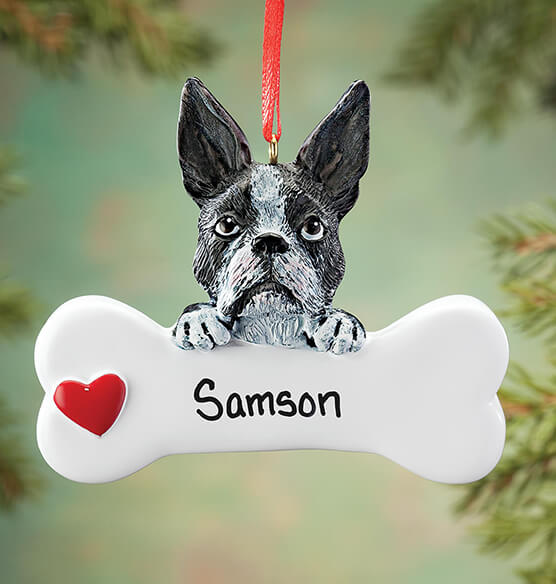 Personalized Boston Terrier Ornament - View 1