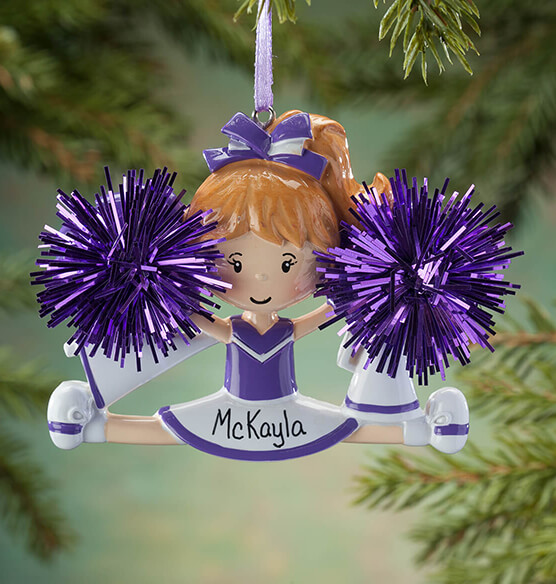 Personalized Cheer Ornament - View 1