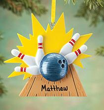 Misc. Sports - Personalized Bowling Ornament