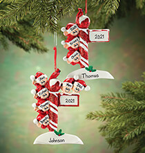 Holiday Ornaments - Personalized Street Post Family Ornament