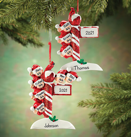Personalized Street Post Family Ornament - View 1