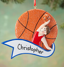 All Gifts for Kids - Personalized Basketball Ornament