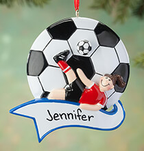 Misc. Sports - Personalized Soccer Ornament