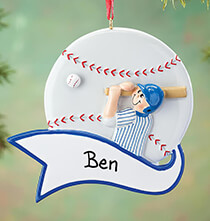 Baseball - Personalized Baseball Ornament