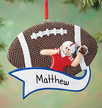 Sport Ornaments - Personalized Football Ornament