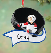 Misc. Sports - Personalized Hockey Ornament