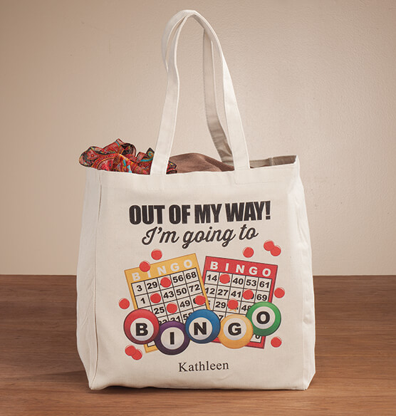Personalized I'm Going to Bingo Tote