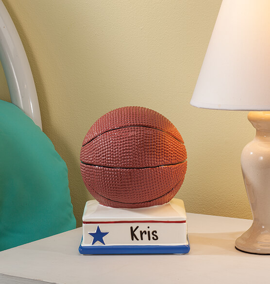 Personalized Basketball Bank - View 1