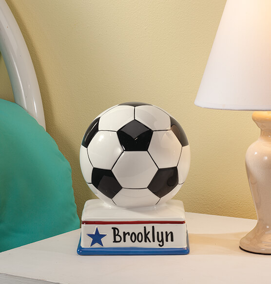 Personalized Soccer Ball Bank Sports Bank Exposures