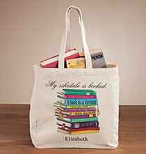 Accessories for Her - Personalized My Schedule Book Club Tote