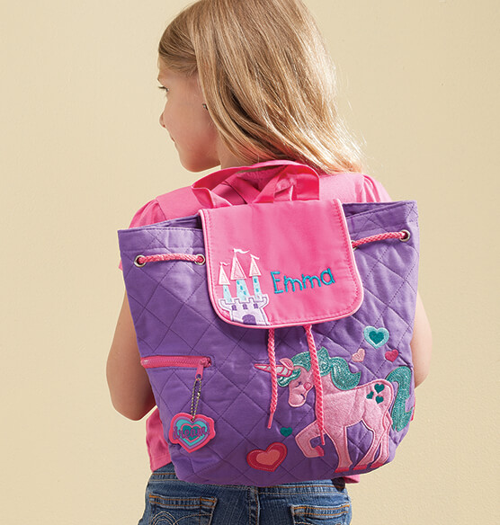 Personalized Stephen Joseph® Unicorn Quilted Backpack - View 1