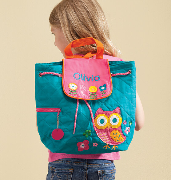 Personalized Stephen Joseph® Owl Quilted Backpack