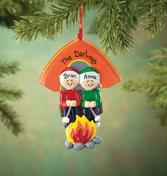 Personalized Camping Family Ornament - View 1