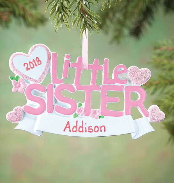 Personalized Little Sister Ornament