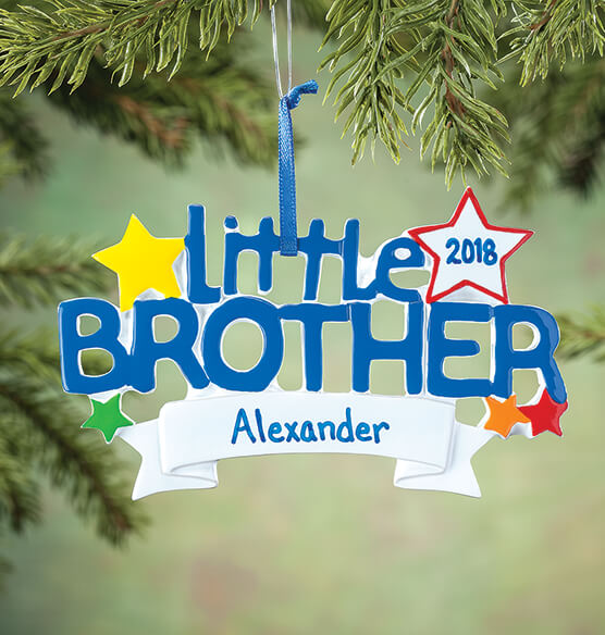 Personalized Little Brother Ornament