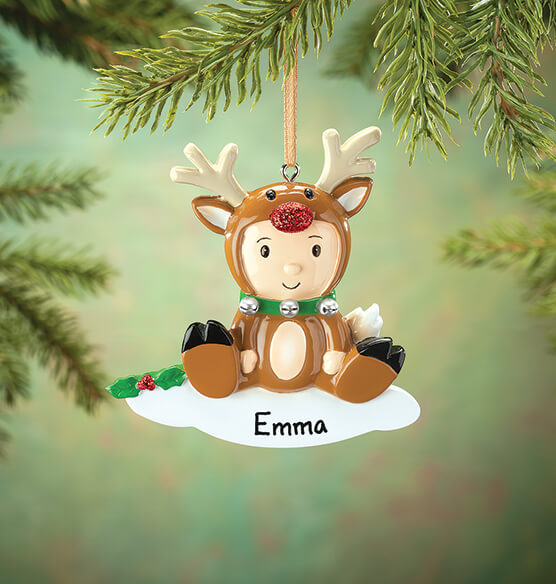 Personalized Reindeer Baby Ornament