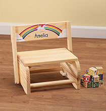 Room Décor - Personalized Children's Unicorn Step Stool