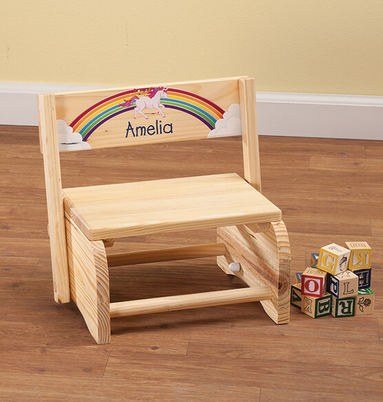 Personalized Children S Unicorn Chair Step Stool Exposures