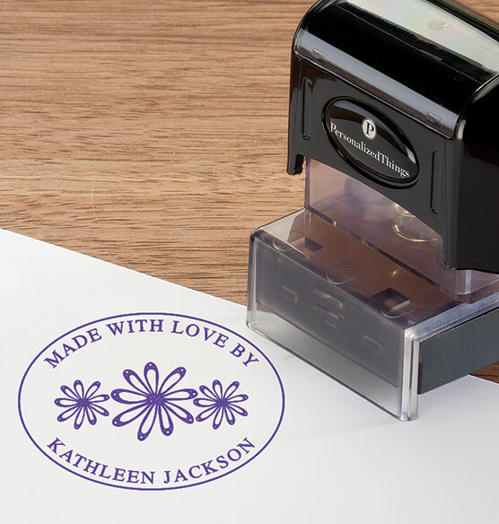 Personalized Made with Love Stamper