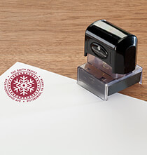 Personalized Snowflake Stamper   Black