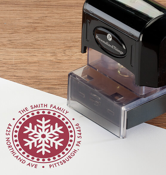Personalized Snowflake Stamper - View 1